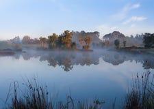 Mist Lake Royaltyfria Foton