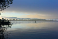 Mist on lake constance Royalty Free Stock Photo