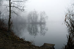 Mist on a lake Stock Photos