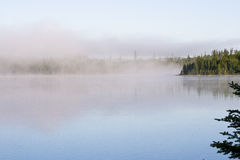 Mist on a lake Stock Images