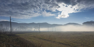 Mist landscape Royalty Free Stock Images