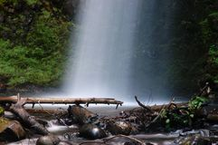 Mist of the Latourell falls. Latourell falls by the Columbia Gorge Scenic Highway, Oregon Stock Photo