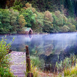 Mist on Loch Ard Stock Photography
