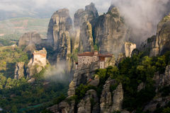 Mist at Meteora Stock Photo