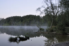Mist on The Moat Royalty Free Stock Images