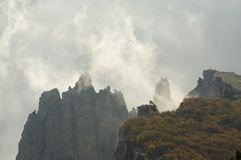 Mist in the mountain Stock Image