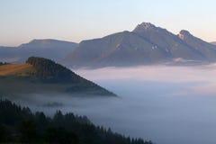 Mist in mountain Stock Photo