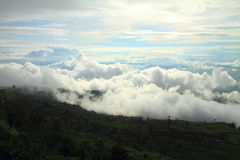 The mist on the mountain Royalty Free Stock Photos
