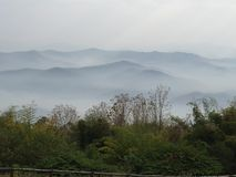 Mist on the mountain Stock Photography