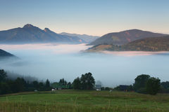 Mist in mountain - Slovakia Royalty Free Stock Images