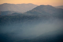 Mist in the mountains Royalty Free Stock Photo