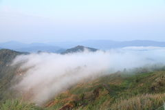 Mist over  the mountains, thailand Stock Photos