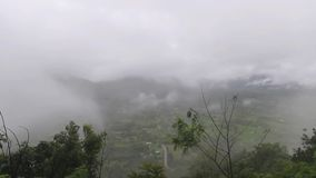 Mist in the Mountains. Morning Mist in the Mountains stock footage