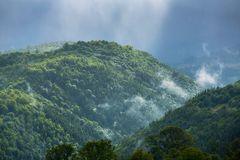 Mist in the mountains Royalty Free Stock Photography