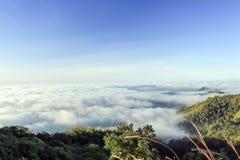 Mist on moutain northern of thaliand Stock Photo