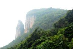 Mist moutain in Thailand Royalty-vrije Stock Afbeeldingen