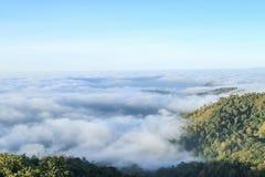 Mist on moutain  of thaliand Stock Image