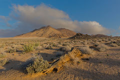 Mist move in over barren Richtersveld Royalty Free Stock Photo