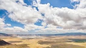 Mist Ngorongoro naturvårdsområde, Tanzania, Afrika Fotografering för Bildbyråer