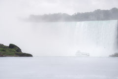 Into the mist at Niagara Falls Royalty Free Stock Image