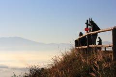 Mist och morgon Arkivfoto