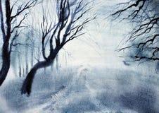 Mist och skymning royaltyfri illustrationer