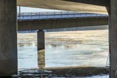 Free Mist On Icy River Under Bridge Stock Photography - 62746672