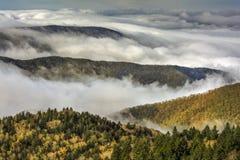 Mist op Blauw Ridge Parkway stock afbeelding