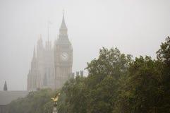Mist op de Big Ben Stock Foto