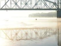 Mist op de rivier Royalty-vrije Stock Foto's
