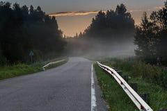 Mist op de weg Royalty-vrije Stock Afbeelding