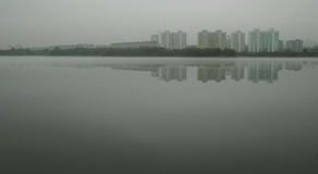 Mist op het meer Stock Afbeelding