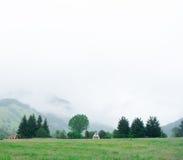 Mist op heuvel Royalty-vrije Stock Afbeelding