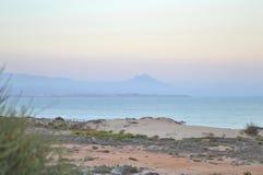 Mist over Alicante Royalty-vrije Stock Foto's