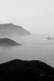 Mist over Corfu Royalty Free Stock Images