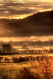 Mist over countryside in hdr Royalty Free Stock Photo