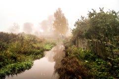 Mist over de rivier Royalty-vrije Stock Afbeelding