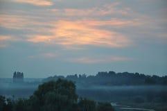 Mist over de rivier Royalty-vrije Stock Foto's