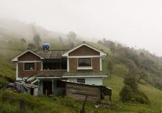 Mist over een Ecuatoriaanse Cloudforest Stock Afbeelding