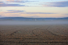 Mist over a field Royalty Free Stock Photography