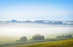 Mist over the fields Stock Photos