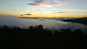 Mist over Lennoxtown Stock Photography