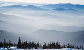 Mist over the mountains Royalty Free Stock Photography