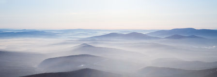 Mist over the mountains Royalty Free Stock Image