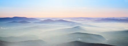Mist over the mountains Royalty Free Stock Photo