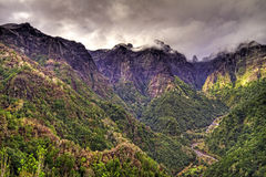 Mist over the mountains. Mist over the mountains on the island of Madeira stock image