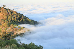 Mist over  moutain northern of thaliand Stock Images