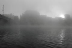 Mist over Prague Stock Photography