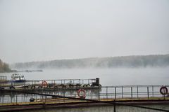 The mist over the river Stock Photo