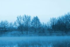 Mist over the river in the morning Stock Photography